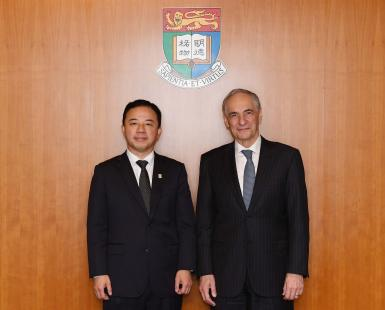 President Zimmer, agrees to an University of Hong Kong Partnership Fund