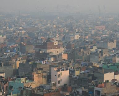 Aerial View of Delhi