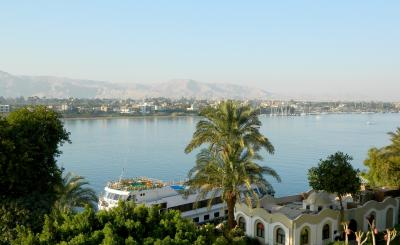 Image of the Nile River in Luxor, Egypt
