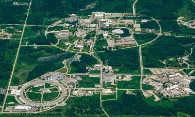 Aerial view of Argonne National Laboratory buildings