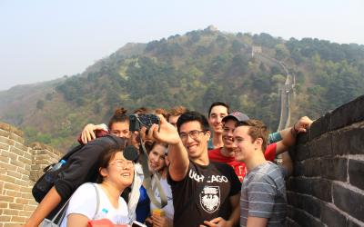 Participants in the Beijing: East Asian Civilizations Study Abroad program visit the Great Wall